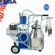 Commercial Electric Milking Machine Milker Cows Stainless Steel 25l W/ Bucket