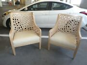Fabulous Vintage Designer Lounge Chairs With Cutout Circles