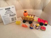 Retired Fisher Price Little People Fall Harvest Hayride With Box Halloween