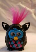 2013 Mcdonald's Happy Meal Hasbro Toy Furby Black With Pink Hair 3 Inches