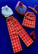 Vintage Barbie Sear Exclusive Sweet 16 Plaid Set Extremely Rare Mint And Comp