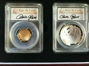 2014 W P 5 1 Pete Rose Baseball Hall Of Fame Gold And Silver Set Pcgs Pr70