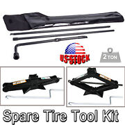 Spare Tire Rod Tools Lug Wrench Scissor Jack For Ford F250 350 450 550 Aaa