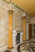 Classic 11 Foot Fluted Column Corinthian Capital Marbled Finish 11and039 3.5