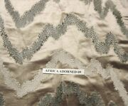 Donghia Hollywood Exotic Shimmering Embroidered Multipurpose Fabric 5yards