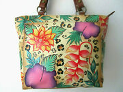 Anuschka In The Tropics Hand Painted Leather Shoulder Tote Purse - Nwt