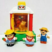 Little People Horse Shelter Farm W/ Figures Barn Fisher Price