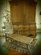 Antique Circa 1910 Tightly Woven Chaise Lounge - Adjustable- Gorgeous