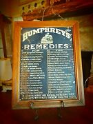 Antique Early Humpheryand039s Remedies General Store Sign In Original Wood Frame