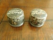1939 1940 1941 1946 Ford Commercial Truck Front Hub Grease Caps Pair