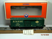 Lionel 6-25025 Reading Box Car W/opening Doors And Operating Couplers Ob
