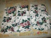 Waverly Pleasant Valley Ruffled Pillow Shams X 2 Standard Size And 2 Ascot Valance