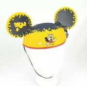 Rare Disney Parks Susan Foy Artist Series Jumping Mickey Mouse Ears Hat Nwt