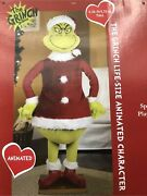 Christmas Santa 5.74 Ft Tall Life Size Animated Prop Speaks-new