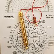 Egyptian Goddess Isis 16 Step Brass Pendulum With Dowsing Charts Out Of Stock