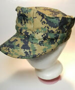 Us Marine Corps Usmc Issue 8 Point Woodland Marpat Camo Cover Hat Cap Small