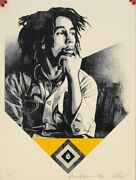 Shepard Fairey Catch A Fire Gold Bob Marley Rare Obey Giant Poster Prints