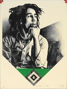 Shepard Fairey Catch A Fire Green Bob Marley Rare Obey Giant Poster Prints