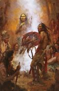 Howard Terpning Transferring The Medicine Shield Limited Edition Signed Print