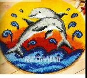 Latch Hook Diy Rug Kit Dolphins 3 Size Options