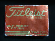 Vintage Titleist Golf Ball Cut- Proof Cover 384dt 12 Balls New Old Stock