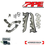 Ppe Raw High Flow Exhaust Manifolds And Up-pipes Fits 11-16 Gm 6.6l Duramax Lml