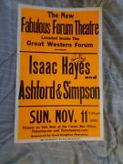 Isac Hayes Autographed Ashford And Simpson Cardboard Boxing Style Concert Poster