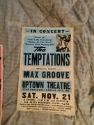 The Temptations Motown Hall Of Fame  Rare Cardboard Boxing Style Concert Poster