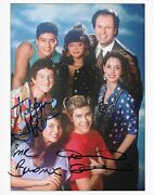 Tiffani Thiessen Dennis Haskins Saved By The Bell Signed Autographed 8x10 Photo