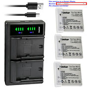 Kastar Battery Ltd2 Charger For Canon Nb-4l Nb-4lh And Digital Ixus 110 Is Camera