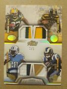 2014 Topps Prime Lacy Bell Sankey Mason Quad Game Used Patch 1/1
