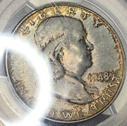 1948 Ben Franklin Half Dollar Pcgs Ms64fblall Kinds Of Crazy Toning Cool Coin