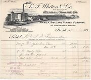 1896 Mf Whiton Co Ingham Cordage Co Lawrence Duck Chains Bunting Flags Boston Ma