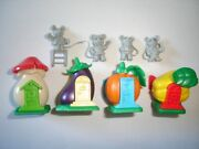 Kinder Surprise Set - Mice With Vegetables Houses 98 - Figures Toys Collectibles