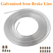Galvanized Iron Brake Line Tubing 3/16 25 Foot Coil Roll All Size Fittings
