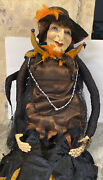 Rare Katherineand039s Collection Life Size 5andrsquo Baba Yaga Sitter Doll Old Lady