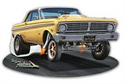 1965 Ford Falcon Drag Racing Gasser Laser-cut Metal Sign By Larry Grossman