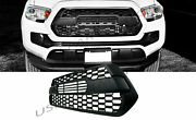 Fits 16-19 Toyota Tacoma Tp-style Front Grille Insert Abs Plastic Matte Black