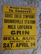 Nils Lofgren Gin Brownsville Station Gallagher Boxing Style Concert Poster