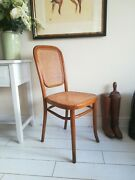 Antique Thonet Bentwood Rattan Extremely Rare - Model 392 Chair - J Tonks And Sons