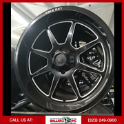 20x10 Lrg Offroad Wheel And 33 Tire Package Black/milled 6x5.5[6x139.7]