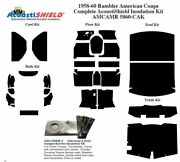 1958 - 1960 Rambler American Coupe Complete Acoustic Insulation Kit