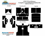 1978 - 1979 Bronco Truck Complete Acoustic Insulation Kit.