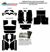 1959 1960 Chevrolet Convertible Complete Acoustic Insulation Kit