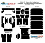 1980 - 1987 Chevy Suburban Complete Acoustic Insulation Kit