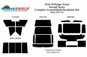 1935 - 1938 Dodge Truck Complete Acoustic Insulation Kit