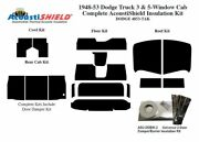 1948 - 1953 Dodge Truck Complete Acoustic Insulation Kit