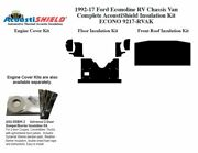1997 - 2017 Econoline Cut Away Van [rv Chassis] Complete Acoustic Insulation Kit