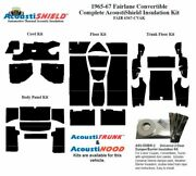 1965 - 1971 Fairlane And Torino Convertible Complete Acoustic Insulation Kit