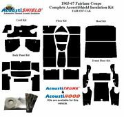 1965 - 1971 Fairlane And Torino Coupe Complete Acoustic Insulation Kit